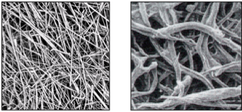 glass vs. cellulose fibers