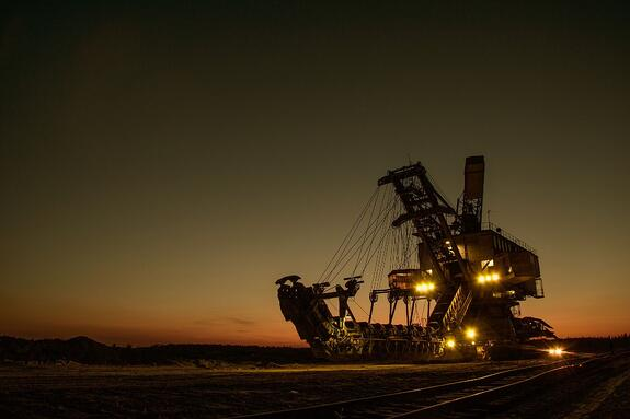 dirty mining excavator